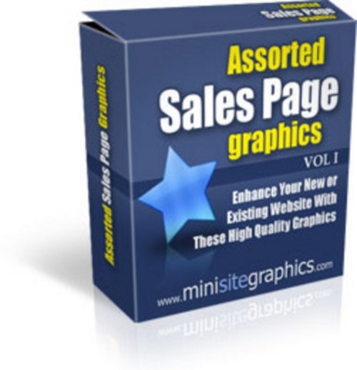Product picture *New* Assorted Sales Page Graphics Vol. 1 & 2 2011